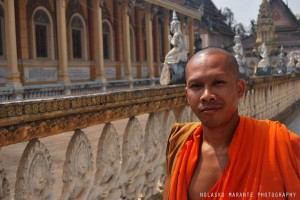 Battambang has some rare case of buddhist constructions that survived the khmer rouge period.